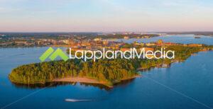 Luleå stad från Gültzaudden :Luleå city, Sweden - Lappland Media