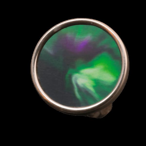 Silverring Kiruna norrsken Lapland Jewelry